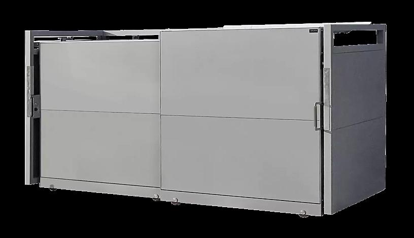 "<div id=""container"" class=""container"">Müllbehälter-Doppelschrank STYLEOUT® BLANK 1100, Aluminiumkonstruktion in RAL 9007 graualuminium</div>"