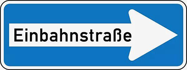 Verkehrszeichen: Einbahnstraße rechtsweisend