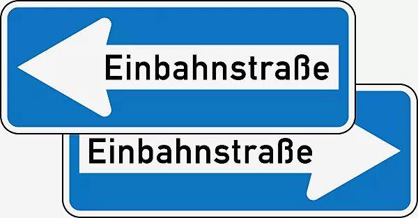 Verkehrszeichen: Einbahnstraße doppelseitig