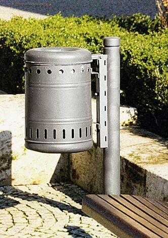Abfallbehälter mit Poller BOULEVARD 83