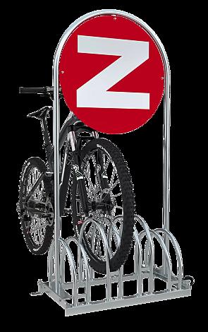 Werbe-Fahrradständer VENTURA, verzinkt