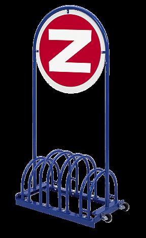 Werbefahrradständer VENTURA in RAL 5017 verkehrsblau