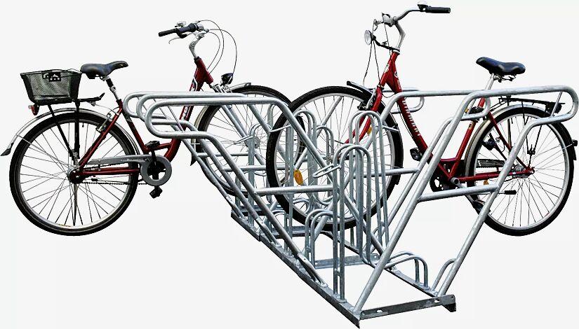 Fahrradständer RIVERSIDE, doppelseitig, 6 Stellplätze, 6 Anlehnbügel