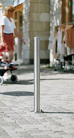 Poller CANARIA mit Rundkopf und Bodenplatte zum Aufdübeln
