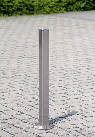 Poller ARTURO mit Bodenplatte zum Aufdübeln