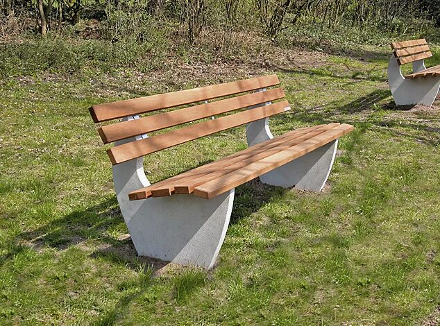 Sitzbank GENOVA mit Holzbelattung