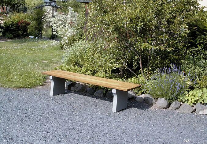 Sitzbank TOSCANA ohne Rückenlehne, mit Holzbelattung