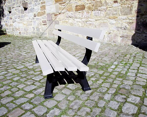 Sitzbank PRATO mit Recycling- Kunststofflatten in grün
