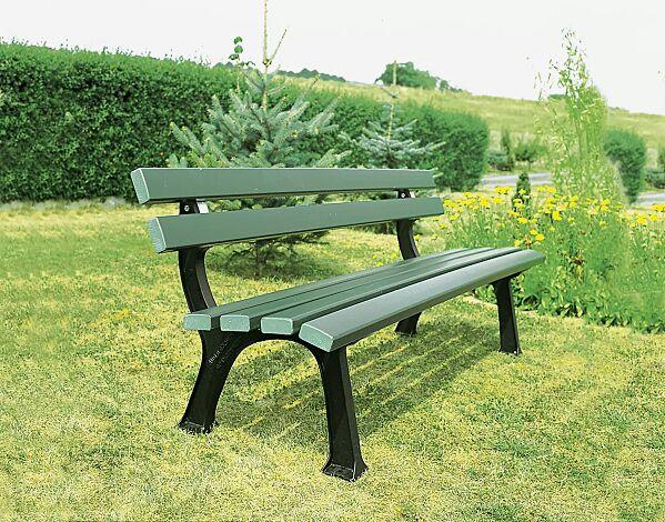 Sitzbank PRATO mit Recycling-Kunststofflatten in grün