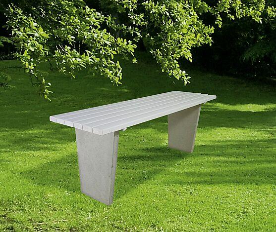 Tisch GENOVA mit PVC-Leisten (Holzeinlage) in weiß