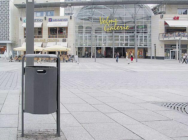 Abfallbehälter COVENTRY, zum Einbetonieren, in DB 703 eisenglimmer