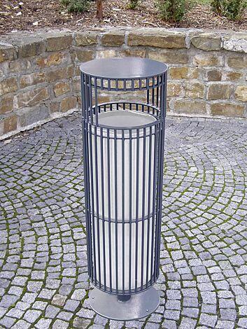 Abfallbehälter SYLVAN, in RAL 7016 anthrazitgrau