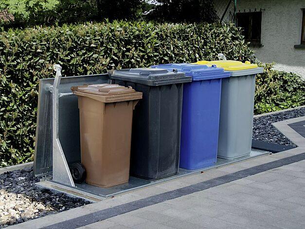 Unterflur-Müllbehältervierfachschrank BANTRY für Tonnengröße 4 x 240 Liter