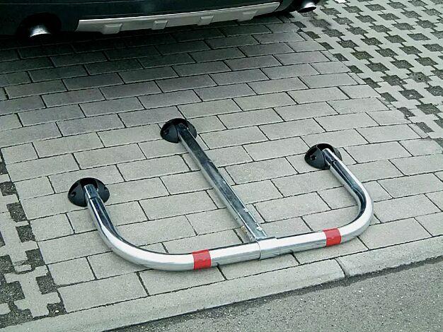 Parkbügel ZEUS aus Stahl, galvanisch verzinkt