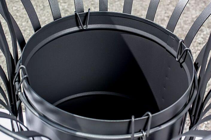 Detail: Abfallsackhaltering Abfallbehälter COROLLA, in RAL 7016 anthrazitgrau