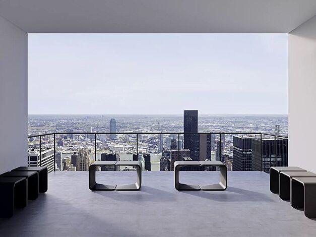 Sitzbank SPRING aus UTC®-Beton, in dunkelgrau