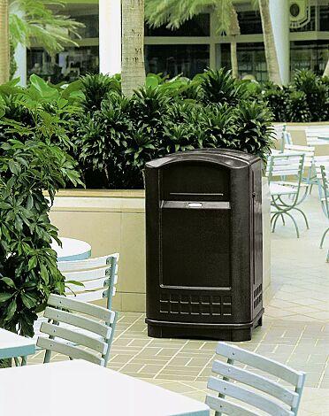 Abfallbehälter GRANBY in schwarz ähnlich RAL 9005
