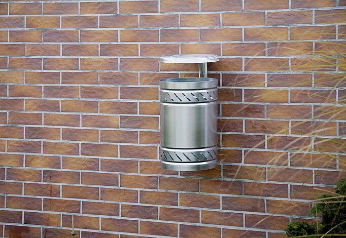 Abfallbehälter MAGGIOLINO mit Schutzdach, feuerverzinkt