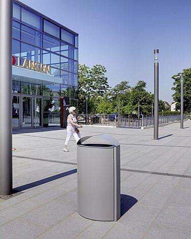 Abfallbehälter CAPITAL aus Stahl, 60 Liter, zum freien Aufstellen