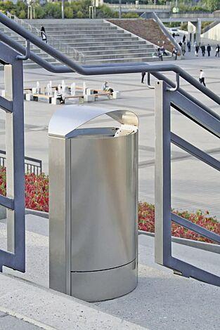 Abfallbehälter CAPITAL aus Edelstahl, 50 Liter, zum freien Aufstellen
