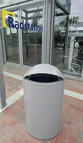 Abfallbehälter CAPITAL aus Stahl, 90 Liter