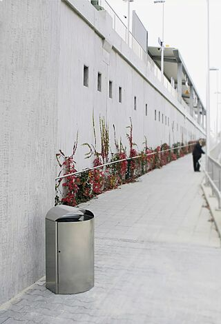 Abfallbehälter CAPITAL, 90 Liter, aus Edelstahl
