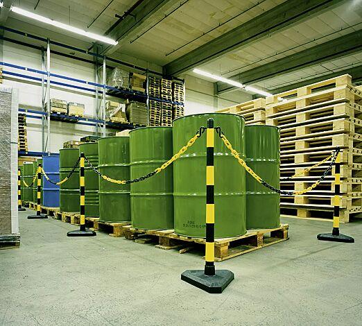 Kettenständer-Set ALTA, schwarz-gelb
