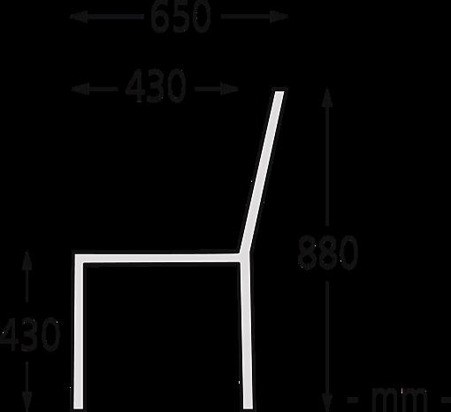 Sitzbank ASOLO Seitenansicht