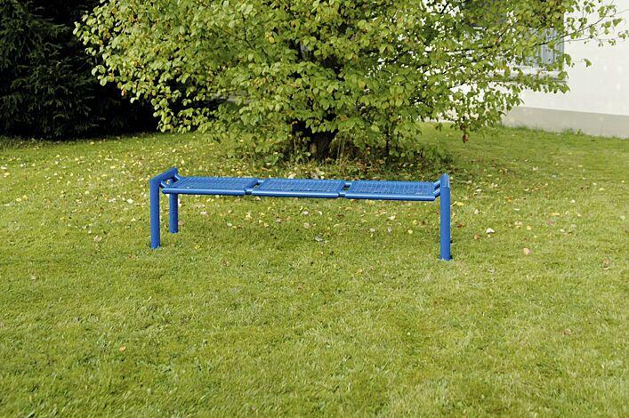 Sitzbank SEVERO ohne Rückenlehne in RAL 5017 verkehrsblau
