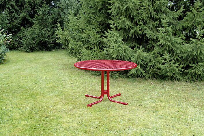 Tisch EGNA in RAL 3000 feuerrot