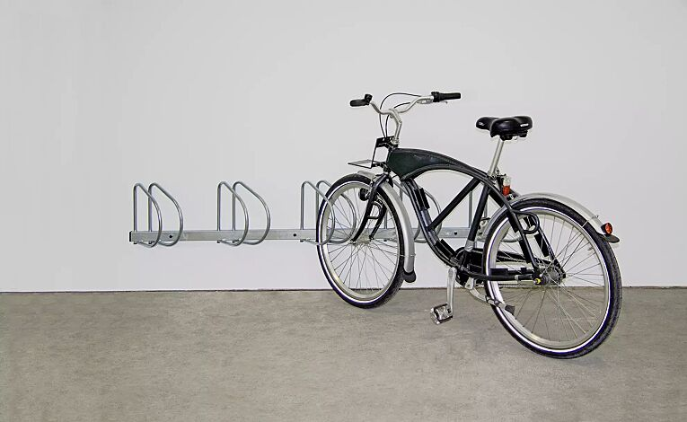 Fahrradwandhalter PRAG, 45° rechts, 5 Stellplätze