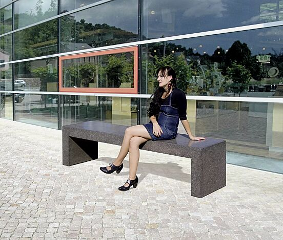 Sitzbank ANDROMEDA, Beton schwarz
