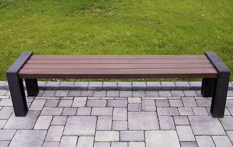 Sitzbank ODERZO ohne Rückenlehne, aus Recyclingkunststoff
