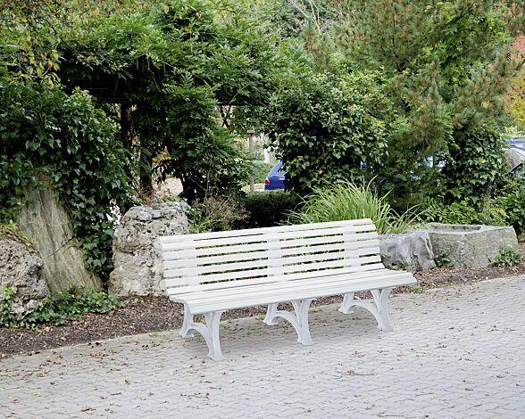 Sitzbank RIETI in weiß, Breite 2000 mm