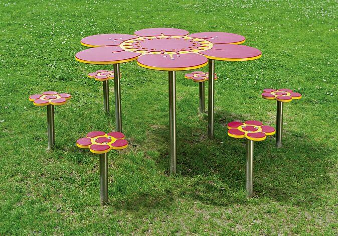 Spieltisch SOMMERWIESE mit 6 Sitzen