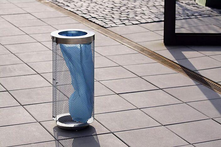 Abfallbehälter AEROPORTO aus Edelstahl