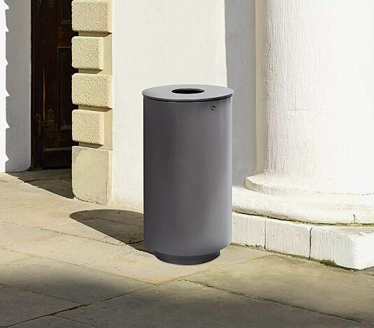 """<div id=""""container"""" class=""""container"""">Abfallbehälter BELPER ohne Ascher, zum Aufdübeln, in DB 703 eisenglimmer</div>"""