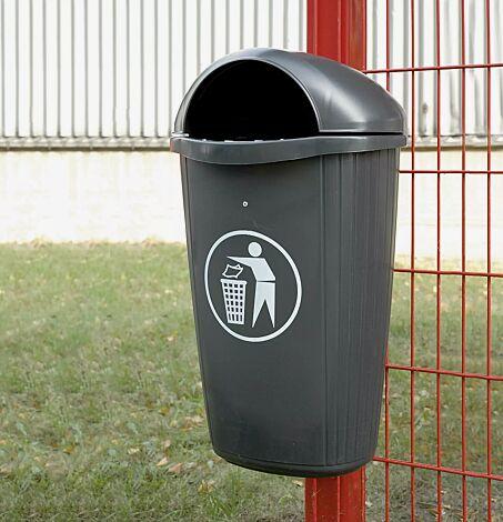 Abfallbehälter BRADFORD, in anthrazitgrau ähnlich RAL 7016