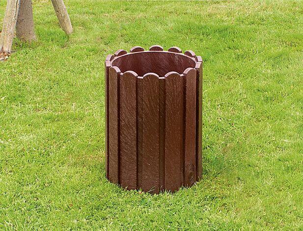 Abfallbehälter BROMLEY zum freien Aufstellen