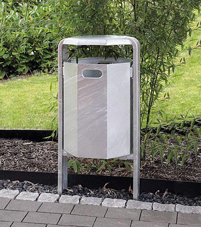 Abfallbehälter COVENTRY, zum Einbetonieren, feuerverzinkt