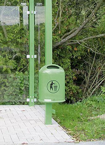 "<div id=""container"" class=""container"">Abfallbehälter DERBY aus Stahl, in RAL 6032 signalgrün</div>"