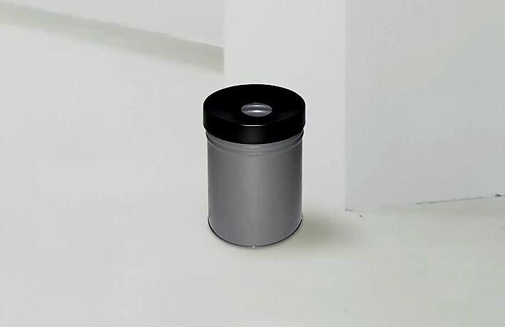 """<div id=""""container"""" class=""""container"""">Abfallbehälter FIRE EX, zum freien Aufstellen, 30 Liter, in graualuminium ähnlich RAL 9007</div>"""