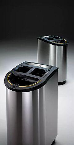 Abfallbehälter GIYANI TRIO mit Ascher