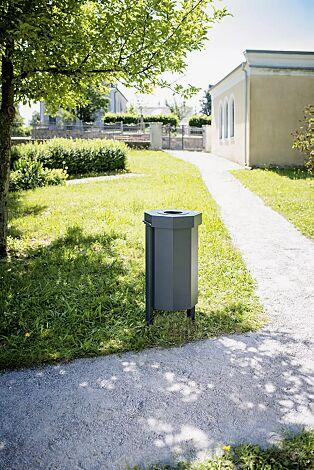 Abfallbehälter HAMBURG in RAL 7016 anthrazitgrau