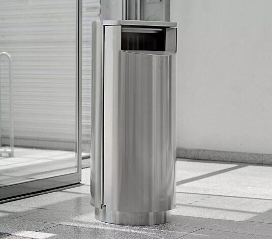 """<div id=""""container"""" class=""""container"""">Abfallbehälter INBIN aus Edelstahl, 67 Liter, ohne Ascher, zum Aufdübeln</div>"""