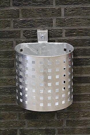 Abfallbehälter KASSEL, mit Lochoptik, feuerverzinkt