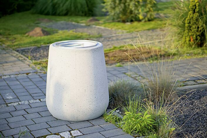 Abfallbehälter KOBE aus Beton, sandgestrahlt