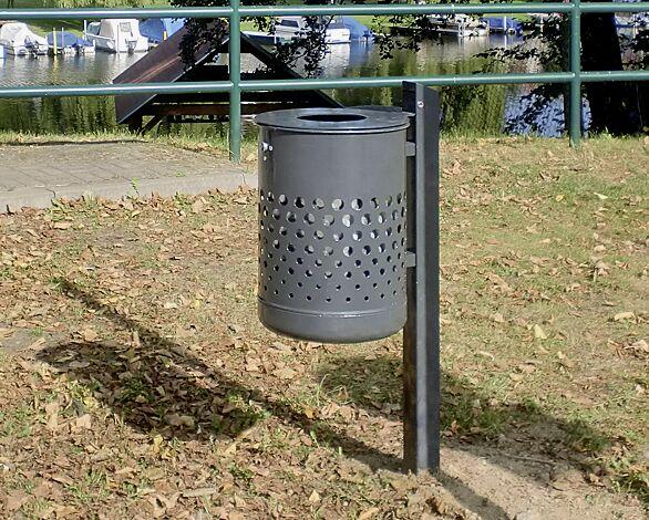 """<div id=""""container"""" class=""""container"""">Abfallbehälter KÖLN ohne Ascher, 35 Liter, mit Lochoptik, zum Einbetonieren, in DB 703 eisenglimmer, mit Innenbehälter (Zubehör)</div>"""