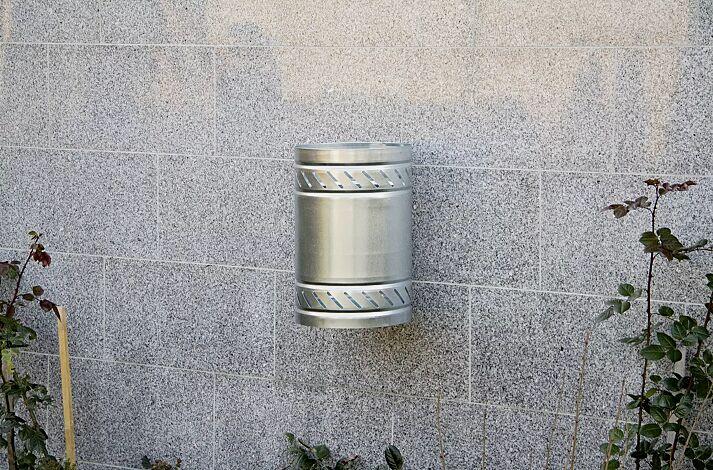 Abfallbehälter MAGGIOLINO ohne Schutzdach, feuerverzinkt