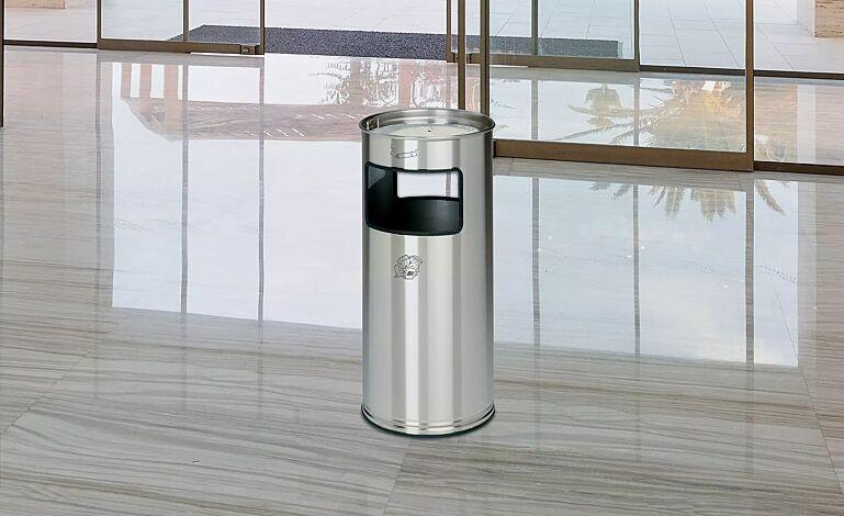 "<div id=""container"" class=""container"">Abfallbehälter MANSFIELD, 37 Liter, aus Edelstahl</div>"